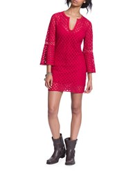 Plenty By Tracy Reese Bell Sleeve Lace Dress Pink