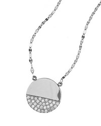 Lana Flawless Illusion Disc Pendant Necklace In 14K White Gold