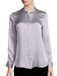 Eileen Fisher Silk Stand Collar Blouse