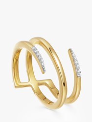 Missoma Cubic Zirconia Pave Claw Lacuna Ring Gold