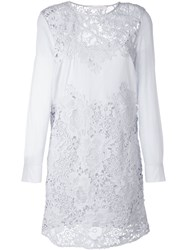 See By Chloe See By Chloe Guipure Lace Panel Dress Blue