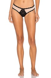 Hanky Panky After Midnight Tulle Open Gusset G String Black