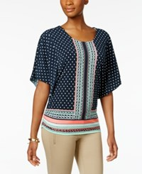 Jm Collection Printed Butterfly Sleeve Top Only At Macy's Havana Scarf