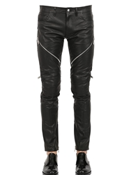 Christian Dada 17Cm Leather Biker Pants Black