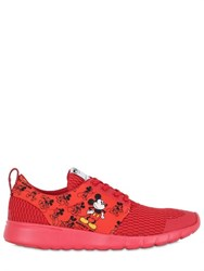 Moa Master Of Arts Mickey Mouse Leather Running Sneakers