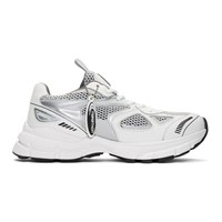 Axel Arigato White And Silver Marathon Sneakers