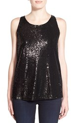 Women's Cupcakes And Cashmere 'Miles' Sequin Tank Black