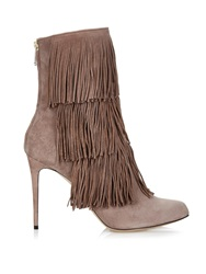 Paul Andrew Taos Layered Fringe Ankle Boots