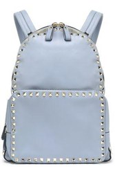 Valentino Garavani Woman Studded Leather Backpack Sky Blue