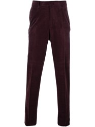Ermenegildo Zegna Slim Fit Tapered Trousers Pink And Purple