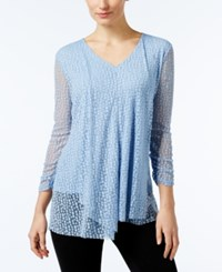 Alfani Plus Size Ruffled Burnout Top Only At Macy's Gentle Blue