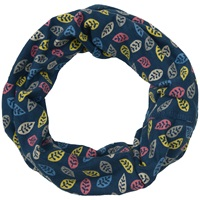 Seasalt Handyband Leaf Cotton Scarf Navy Multi