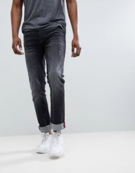 f9fc833f Blend Of America Distressed Slim Fit Jeans In Washed Black Washed Black 14
