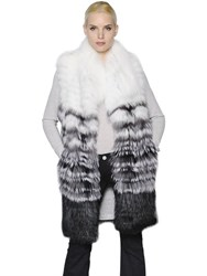 Yves Salomon Gradient Fox Fur Vest