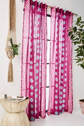 Anthropologie Bandi Dotted Curtain Raspberry