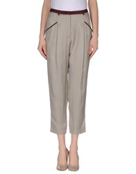 I'm Isola Marras Trousers Casual Trousers Women Light Grey