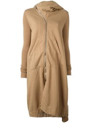 Rick Owens Drkshdw Oversized Hooded Coat Brown