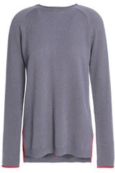 Duffy Pointelle Trimmed Cashmere Sweater Anthracite
