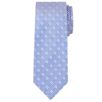 Chester Barrie By Flower Silk Tie Blue White