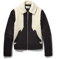 Maison Martin Margiela Faux Shearling And Wool Blend Jacket Black