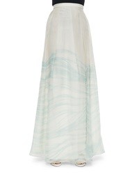 Alexis Olimpia Long Pleated Skirt Teal Wave