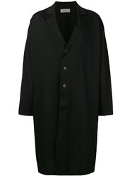 Yohji Yamamoto Classic Single Button Coat Black