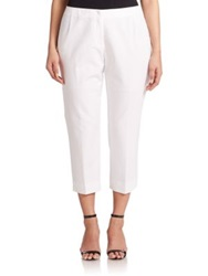 Lafayette 148 New York Plus Size Cropped Bleecker Pants White