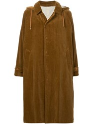 08Sircus Hooded Corduroy Coat Brown