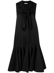 J.W.Anderson Jw Anderson Exaggerated Hem Dress With Bow Detail Black
