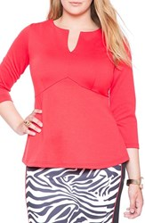 Plus Size Women's Eloquii Empire Waist Flare Top Scarlett