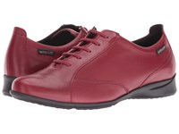 Mephisto Valentina Oxblood Silk Women's Lace Up Casual Shoes Red