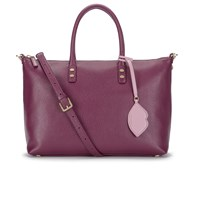 Lulu Guinness Women's Frances Medium Tote Bag With Lip Charm Cassis