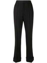 Helmut Lang High Waisted Flared Trousers Black