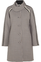Bouchra Jarrar Sherlock Patent Trimmed Wool Tweed Coat