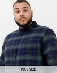 Burton Menswear Big And Tall Shirt In Black Check