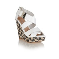 Ravel Kennedia Strappy Wedge Sandals White