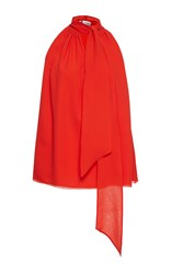 Lanvin Sleeveless Blouse Red
