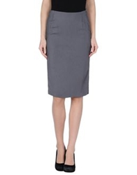 Gotha Knee Length Skirts Grey