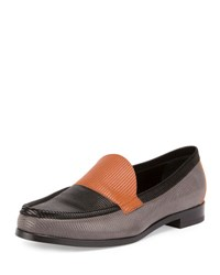 Pierre Hardy Hardy Textured Colorblock Leather Loafer Gray Grey