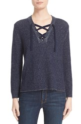 Brochu Walker Women's Wool And Cashmere Lace Up Sweater