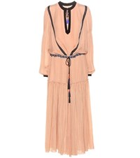 Etro Embellished Silk Dress Pink