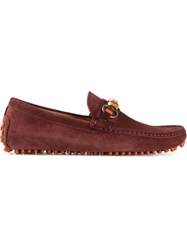 Gucci Bamboo Detail Loafers Red