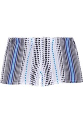Lemlem Jaha Cotton Blend Gauze Shorts Blue
