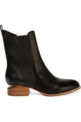 Alexander Wang Anouck Lizard Effect Leather Ankle Boots Black