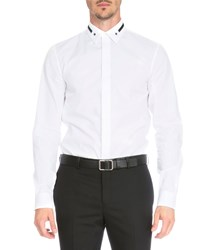 Givenchy Star And Stripe Collar Button Down Shirt White