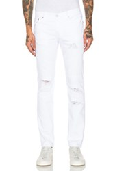 Stampd Distressed Panel Denim In White