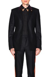 Givenchy Velvet Collar Single Breast Jacket In Black