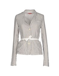 Manila Grace Denim Suits And Jackets Blazers Women Ivory