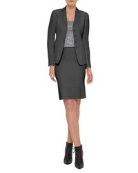 Akris Intuition Button Front Jacket Black