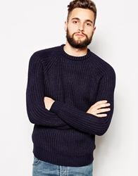 French Connection Ribbed Crew Neck Jumper Navy